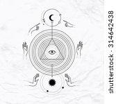 vector geometric alchemy symbol ... | Shutterstock .eps vector #314642438
