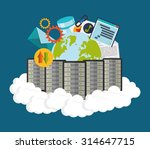 web hosting concept with cloud... | Shutterstock .eps vector #314647715