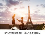 romantic marriage proposal at... | Shutterstock . vector #314654882