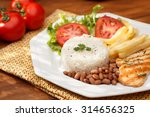 typical dish of brazil  rice... | Shutterstock . vector #314656325