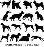 dog  silhouette | Shutterstock .eps vector #31467502