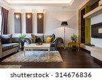 interior of a living room in...   Shutterstock . vector #314676836