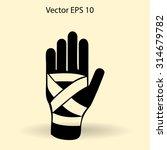 hand bandaging vector... | Shutterstock .eps vector #314679782