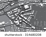 urban city top view | Shutterstock .eps vector #314680208