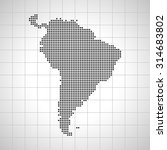 map of south america | Shutterstock .eps vector #314683802