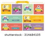 set of cars concepts. car loan... | Shutterstock .eps vector #314684105