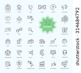 thin  lines  outline icons of... | Shutterstock .eps vector #314684792