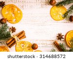 christmas decoration with fir... | Shutterstock . vector #314688572