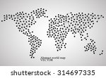 abstract world map. molecule... | Shutterstock .eps vector #314697335
