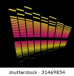 colorful bars  reflection | Shutterstock .eps vector #31469854