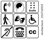 black disability symbols and... | Shutterstock . vector #314710925