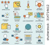 vector set of icons related to... | Shutterstock .eps vector #314714612