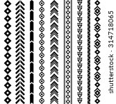 tribal geometric pattern. aztec ... | Shutterstock .eps vector #314718065