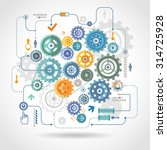 cogwheels gear mechanical... | Shutterstock .eps vector #314725928