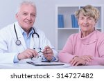 elder woman trusts her old male ... | Shutterstock . vector #314727482