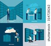 data center design concept set... | Shutterstock .eps vector #314728262