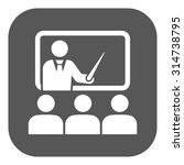 the training icon. teacher and... | Shutterstock .eps vector #314738795