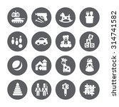 toys icons. vector signs. set... | Shutterstock .eps vector #314741582