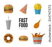 fast food icon design. flat... | Shutterstock .eps vector #314747372