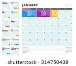 calendar planner for 2016 year. ... | Shutterstock .eps vector #314750438
