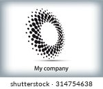abstract business circle icon....   Shutterstock .eps vector #314754638