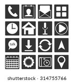 phone app icon set vector. flat ...