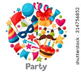 carnival show and party... | Shutterstock .eps vector #314756852