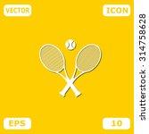 tennis rackets with ball vector ... | Shutterstock .eps vector #314758628