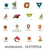 set of abstract travel logo... | Shutterstock .eps vector #314759516