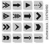 set of arrows on a gray...   Shutterstock . vector #314760482