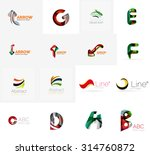 set of new universal company... | Shutterstock . vector #314760872