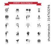 20 icon set. business strategy... | Shutterstock .eps vector #314763296