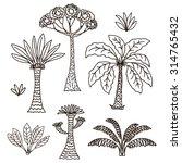 vector hand drawn illustration... | Shutterstock .eps vector #314765432