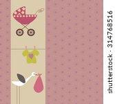 scrapbook design elements. baby ... | Shutterstock .eps vector #314768516