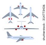 vector set of planes. passenger ... | Shutterstock .eps vector #314773436
