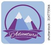 mountain adventure. labels...   Shutterstock .eps vector #314775566
