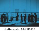 silhouettes of business people... | Shutterstock . vector #314801456