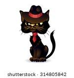 Gangster Cat. Mafia Cat Dresse...