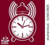 alarm clock vector 3d... | Shutterstock .eps vector #314815805