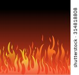 Hot Fire Vector Template On...