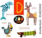 cute zoo alphabet in vector.d... | Shutterstock .eps vector #314822042