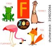 Cute Zoo Alphabet In Vector.f...