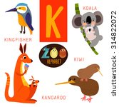 Cute Zoo Alphabet In Vector.k...