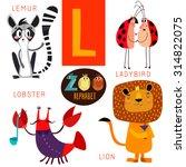 cute zoo alphabet in vector.l... | Shutterstock .eps vector #314822075