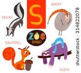 cute zoo alphabet in vector.s... | Shutterstock .eps vector #314822078