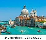 canal grande with basilica di... | Shutterstock . vector #314833232