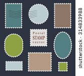 postal vector stamps  old style. | Shutterstock .eps vector #314833988