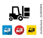 Forklift Delivery Truck Vector...