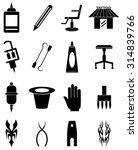 tattoo artist icons set   Shutterstock .eps vector #314839766