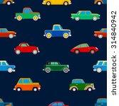 seamless wallpaper of cars on... | Shutterstock . vector #314840942